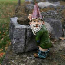 Peeing Gnome Polyresin Naughty Garden Flashing Gnome For Lawn Decoration