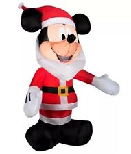 Christmas Disney Santa Claus Mickey Mouse 3.5 ft Lighted Airblown Inflatable NIP