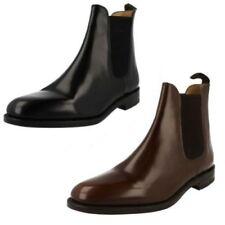 Stivali, anfibi e scarponcini da uomo neri formale, 100% pelle
