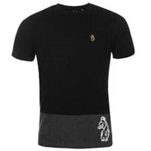 Luke Sport 1977 Splitter T Shirt Black Grey Large \ BN Authentic - UK Seller