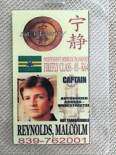Serenity/Firefly Id Badge- Captain Malcolm Reynolds