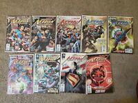 Lot Of 8 DC NEW 52 ACTION COMICS #1-6 8-10 2012 SUPERMAN Grant Morrison #9