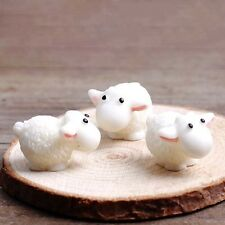 5Pcs Mini Sheep Figurines Miniatures Home Decor DIY Animals Micro Fairy Garden