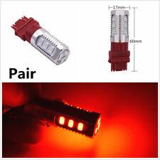 Pair Universal 3157 LED Flash Strobe Blinking Red Car Rear Brake Tail Stop Light