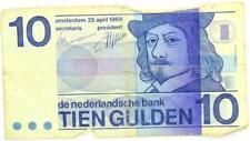 1968 Netherlands 10 Gulden Banknote