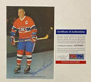 Maurice Richard Signed 5x7 Postcard Photo Autograph PSA/DNA COA Canadiens HOF