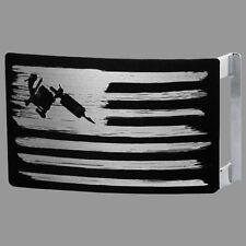 Tattoo Machine Flag Belt Buckle by Steadfast