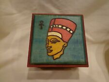 Ewb Wood Jewelry Keepsake Egyptian Queen Box Hand Painted Enchanted World Boxes