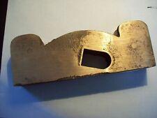 """Reproduction Norris shoulder plane rough bronze casting 8"""" long 1 1/4"""" wide"""