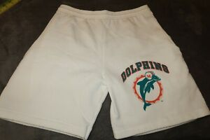 NWOT MIAMI DOLPHINS SWEAT SHORTS FLEECE SIZE SMALL MENS MADE IN USA TRENCH USA