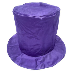 Adult Shiny Purple Top Hat ~ HALLOWEEN, COSTUME, MARDI GRAS, NEW YEAR'S, PARTY