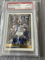 shaquille o'neal 1992 Topps Gold # 362 Rookie Psa 8 🔥Hot
