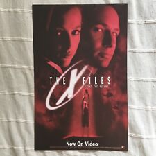 The X-Files Fight the Future video PROMO sheet Promotional poster Vintage