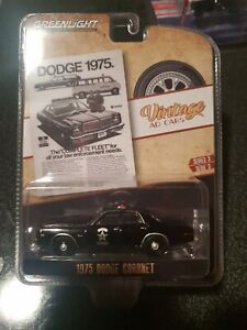 Greenlight 1:64 Vintage Ad Cars 1975 Dodge Coronet State Police