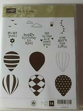 Stampin' Up Up, Up And Away Stamp Set Gently Used!  RETIRED Red rubber FREE SHIP