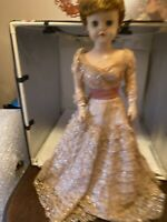 """1950s Vtg Deluxe Grocery Store 28"""" Supermarket Fashion Doll in Original Outfit"""