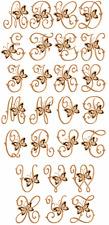 "ABC Designs Cutwork Butterflies Machine Embroidery Font for 5""x7"" hoop"