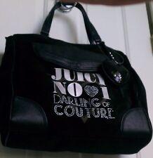Juicy Couture No 1 Darling of Couture Love Plumes Sarah Bag Handbag Purse Black
