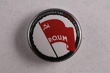 """Spain Spanish POUM Communist Party Trotskyist Civil War 1"""" Button Badge Pin"""