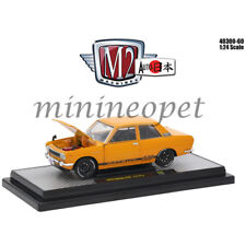 M2 MACHINES 40300-60B AUTO JAPAN 1970 DATSUN 510 1/24 DIECAST MODEL CAR ORANGE