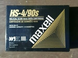 Maxell HS-4/90s DAT DDS-1 Data Cartridge 2GB Nominal Storage New Sealed