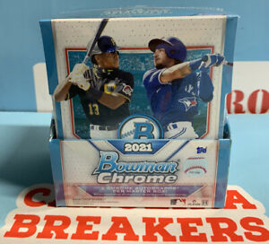 2021 Bowman Chrome Baseball Hobby - Factory Sealed Box - In Hand! Ships FREE Now