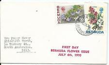 1970 FDC Flower Issue FDI 6 Jul 1970 Typed Address to Australia
