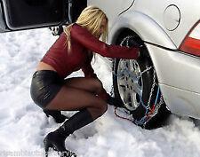 CATENE DA NEVE a norma da 9MM per pneumatico 195/45R16 OMOLOGATE CERTIFICATE!!!