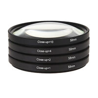 58MM Macro Close Up Lens Filter Kit +1 +2 +4 +10 For Canon EOS 650D 600D 18 L&6