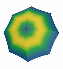 doppler Fiber Magic Spirit Regenschirm Accessoire Blue / Yellow Blau Grün Neu