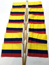 Colombia Small 4 X 6 Inch Country Stick Flags Banner with 10 Inch Plastic Pol
