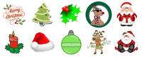 30 Christmas Cupcake Toppers Rice Card Cake Fairy Xmas Pre Cut
