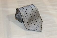 DASH'S OF OLD TOWN Gray Polka Dot Classic Woven 100% Silk Tie