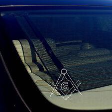"Freemason Decal Bumper Window Sticker Masonic Compass Government 5"""