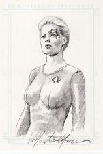 Women of Star Trek Voyager Monte Moore 7 of 9 Sketch Card