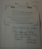DAWSON'S CREEK set used paperwork ~ INVITATION TO 2003 TRIBUTE PARTY