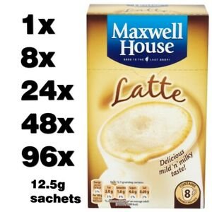 MAXWELL HOUSE LATTE instant coffee classic roast (1 to 96 sachets) cheap
