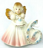 Josef Originals Birthday Girls Angel Figurine Age 6 Applause Vintage w Tag