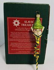 Slavic Treasures Retired Glass Ornament - Twisted Elf