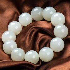 Xinjiang White Jade Round Bead Bracelet Transfer Round Bead Bracelet Chain