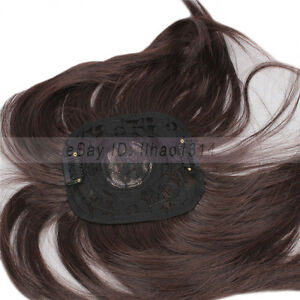 Unisex Toupee Clip in Hair Extension Heat Resistant Synthetic Straight Hairpiece