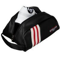Stripe Golf Leather Shoe Bag