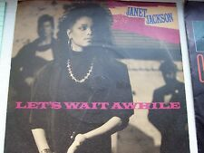 JANET JACKSON, LET'S WAIT AWHILE / NASTY. ORIGINAL 1987 A&M SINGLE