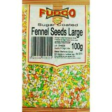 200g Fudco Fennel Seeds Large sugar coated 2x 100g