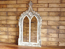 Antique Gothic Arched Window Wooden Home Garden Wall Mirror Rustic Arch Large A
