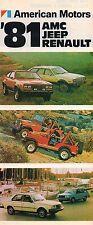 1981 JEEP/AMC/RENAULT Brochure: CJ-5,7,WAGONEER,CHEROKEE,LAREDO,HONCHO,EAGLE,18i
