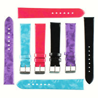 Pack of 2 sets of Ladies 18mm faux leather synthetic Gloss Watch Strap 4 Colours
