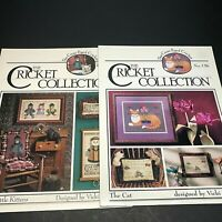 The Cat and 3 Little Kittens 2 Cross Stitch Pattern Leaflets Cricket Collection