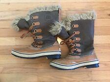 Sorel Joan of Arctic Winter Boots Faux Fur Warm Snow Waterproof Womens 10 Green