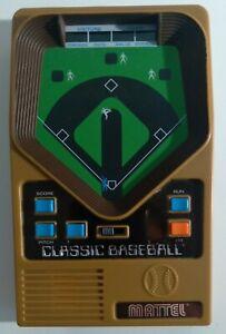 Vintage 2001 Mattel Classic Baseball Handheld Electronic Game - Tested Works